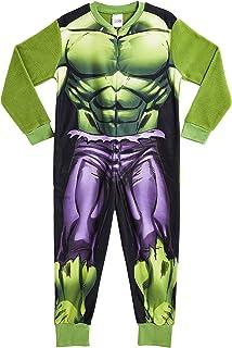 Marvel Onesie para Niños | Mono Infantil con Personajes Hulk Y Avengers Onesie Pijama para Niños | Mono Pijama Todo En Uno...