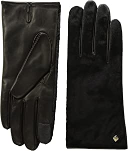 Cole Haan - Haircalf Black Gloves