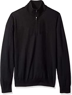 Marchio Amazon - Buttoned Down - Italian Merino Cashwool Quarter-zip Sweater, Felpa Uomo