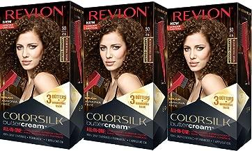Revlon Colorsilk Buttercream Hair Dye, Medium Natural Brown, Pack of 3