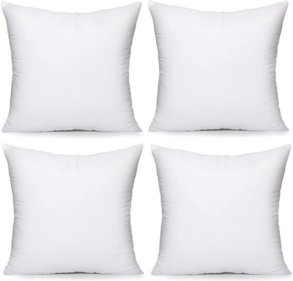 Acanva Throw Couch Pillow Inserts 20 4Pack White
