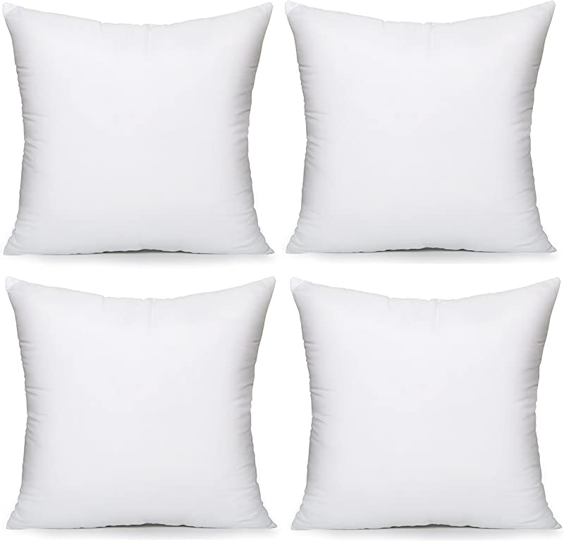 Acanva Throw Pillow Inserts Couch Pillow Inserts With Hypoallergenic Polyester 20 L X 20 W Pack Of 4