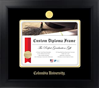 Columbia University 10½ x 12½ Matte Black Finish Infinity Diploma Frame