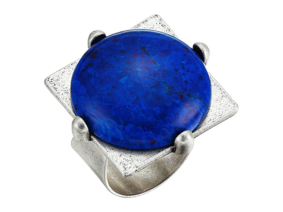 1960s Jewelry Styles and Trends to Wear Alex and Ani Lapis Lazuli Cocktail Ring Rafaelian Silver Ring $38.00 AT vintagedancer.com