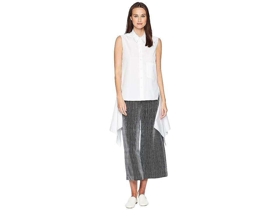 Neil Barrett Sleeveless Fall-Away Shirt (White) Women