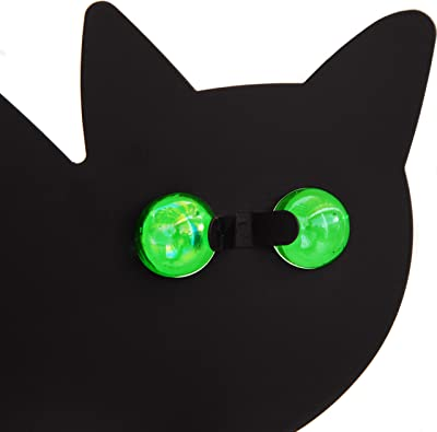 Tapix Garden Scare Cats with Reflective Eyes, Car Decoy Outdoor Statue - Cat Repellent Garden and Yard Decoration - Cat Garden Stake (Set of 4)