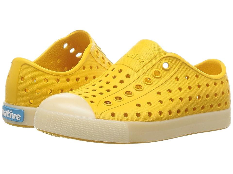 Native Kids Shoes Jefferson Glow (Toddler/Little Kid) (Alpine Yellow/Glow) Kids Shoes