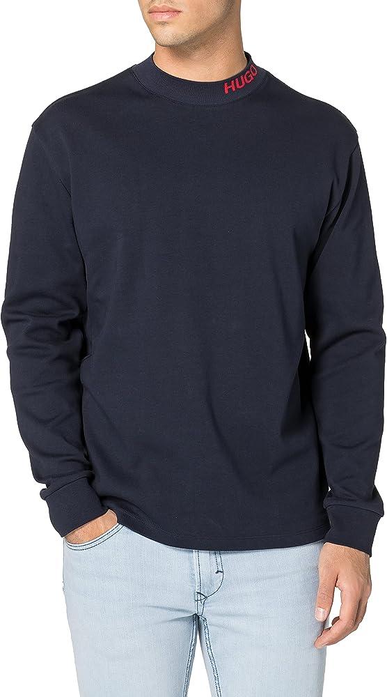 Hugo boss dorrison maglione felpa per uomo collo a u 100% cotone 50454104