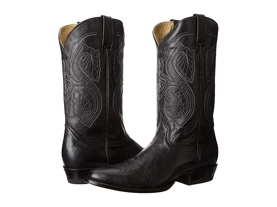 Stetson 13 Shaft Single Welt Round Toe Boot (Black) Cowboy Boots