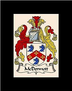 Carpe Diem Designs McDermott Coat of Arms/McDermott Family Crest 8X10 Photo Plaque, Personalized Gift