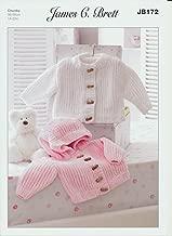 James C. Brett Knitting Pattern Kid's Woollen Duffle Jackets in Flutterby Chunky Yarn (JB172)