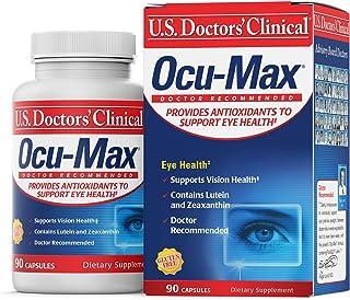 U.S. Doctors' Clinical Ocu-Max Eye Health Support with Lutein and Zeaxanthin, Beta Carotene, Antioxidant Vitamins C & E fo...