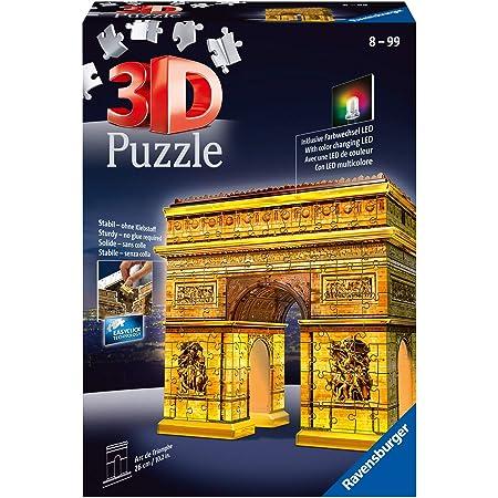 Ravensburger - Puzzle 3D - Building - Arc de Triomphe illuminé - 12522