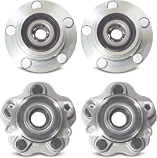 Tomegun 4 to 5 Lug Wheel Hubs Bearing Conversion Set of 4 (Front/Rear) for 89-94 Nissan 240SX S13