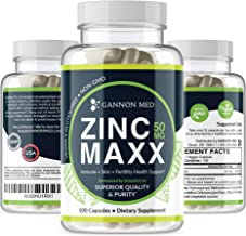 Zinc Maxx - Maximum Zinc Gluconate 50 mg per dose - 100 Day Supply - High Potency & Absorbance - Gentle On Stomach - Profe...