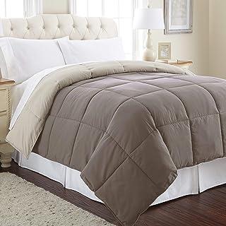 Amrapur Overseas Goose Down Alternative Microfiber Quilted Reversible Comforter / Duvet Insert Twin. 2DWNCMFG-STC-TN