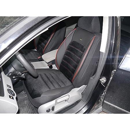 Sitzbezüge K Maniac Für Ford Focus Universal Schwarz Rot Autositzbezüge Set Komplett Autozubehör Innenraum No 4 Kfz Tuning Sitzbezug Sitzschoner Auto
