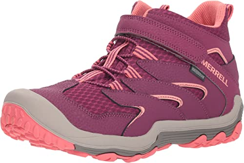Merrell Girls' Chameleon 7 Access Mid A C WTRPF Hiking chaussures, Berry Coral, 3 Medium US Little Kid