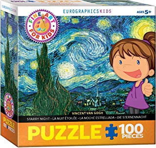 EuroGraphics Starry Night by Vincent Van Gogh 100-Piece Puzzle, Multicolor