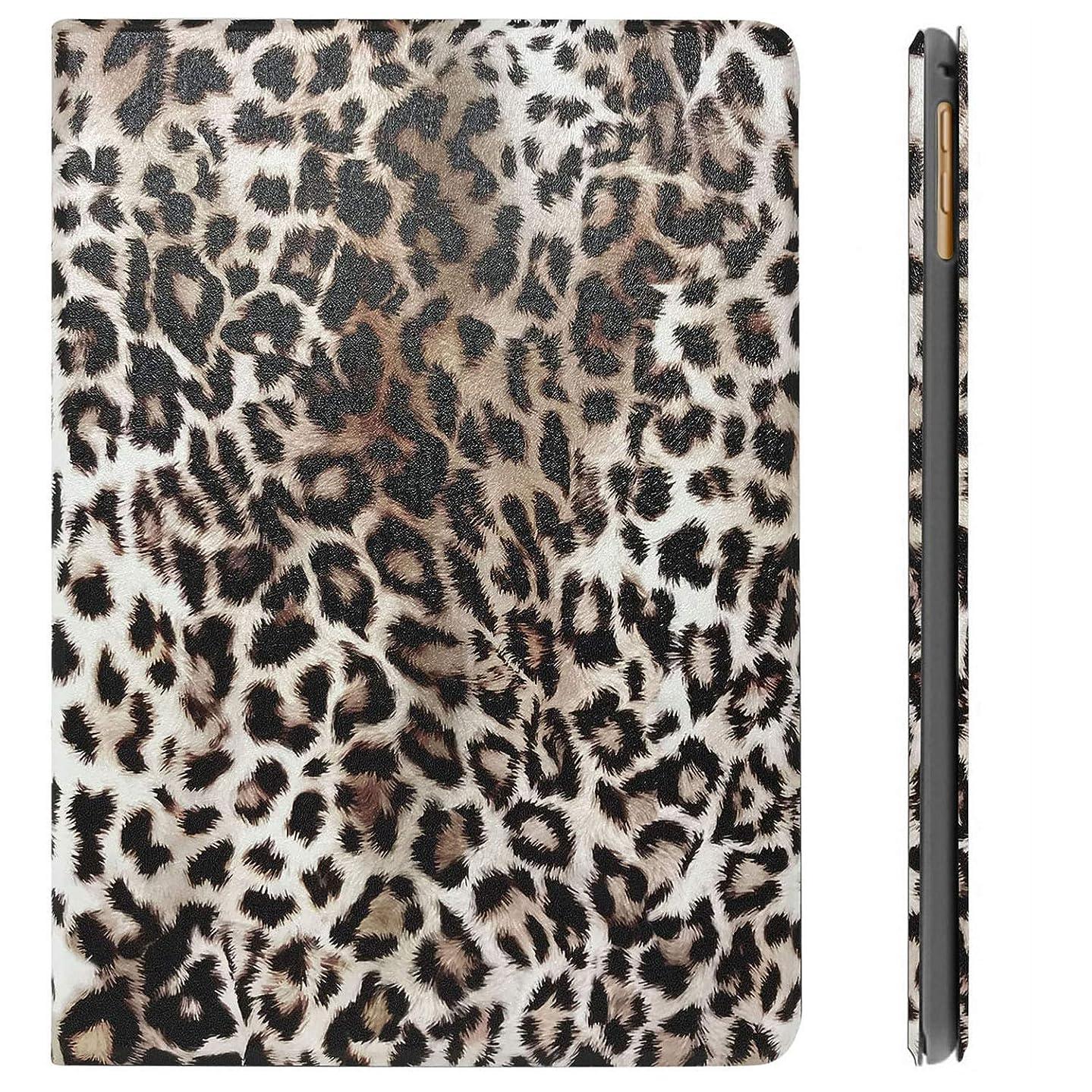 DuraSafe Case for iPad 9.7 Inch 5/6 Gen 2017/2018 & Air 1 / Air 2 [ A1893 A1954 A1822 A1823 A1566 A1567 A1474 A1475 ] Printed Smart Cover - Leopard (Folio)