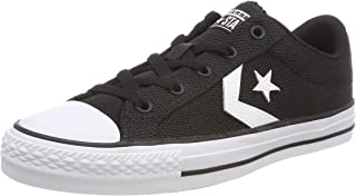 converse star player trainers black