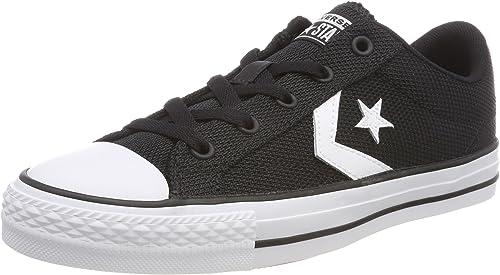 Converse Unisex-Erwachsene Star Player Ox Weiß schwarz Turnschuhe