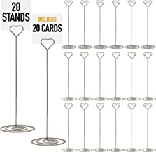 Set of 20 Table Number Holder - Table Number Stands For Signs, Table Number Holders For Weddings, Table Card Holder, Table Sign Holder, Table Number Stand   Wedding Table Numbers Holders - 8.5 inch