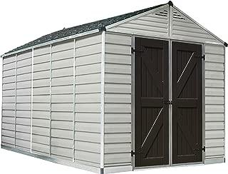 Palram Skylight Storage Shed - 8' x 12' - Tan