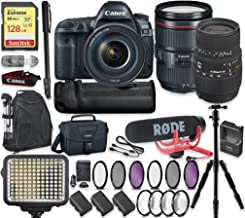 Canon EOS 5D Mark IV DSLR Camera with 24-105mm F/4L is II USM Lens & Sigma 70-300mm Lens + 128GB Sandisk Extreme Memory + Video LED Light + Rode Microphone + 60