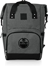 PICNIC TIME Cooler NHL Edmonton Oilers OTG Roll Top Backpack, Heathered Gray, One size