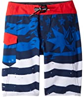 Volcom Kids - Youth of July Mod Boardshorts (Big Kids)