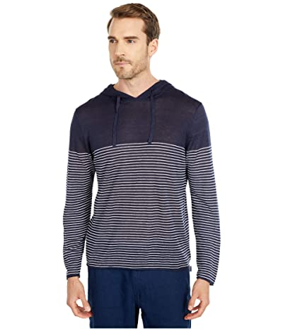 onia Frank Sweater Hoodie (Deep Navy) Men