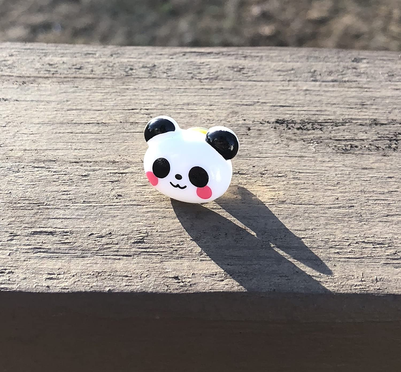 Kawaii Panda Pin Brooch - Black 1 year warranty and Bear Seattle Mall White