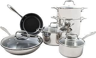 Tuxton Home 1STS00101G01 Concentrix cookware-sets, 10-Piece, Black