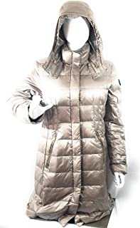 DKNY Women's Winter Warm Hooded Jacket Padded Large Faux-Fur-Trim L