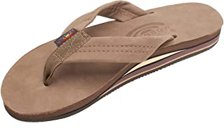 Rainbow Sandals Men's Premier Leather Double Layer with Arch Wide Strap