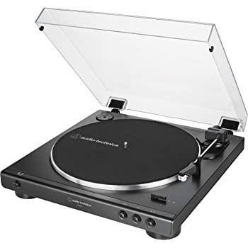 Audio-Technica AT-LP60X-BK Fully Automatic Belt-Drive Stereo Turntable, Black, Hi-Fi, 2 Speed, Dust Cover, Anti-Resonance, Die-Cast Aluminum Platter