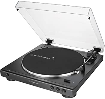Audio-Technica AT-LP60X-BK Fully Automatic Belt-Drive Stereo Turntable, Black, Hi-Fi, 2 Speed, Dust Cover, Anti-Reson...