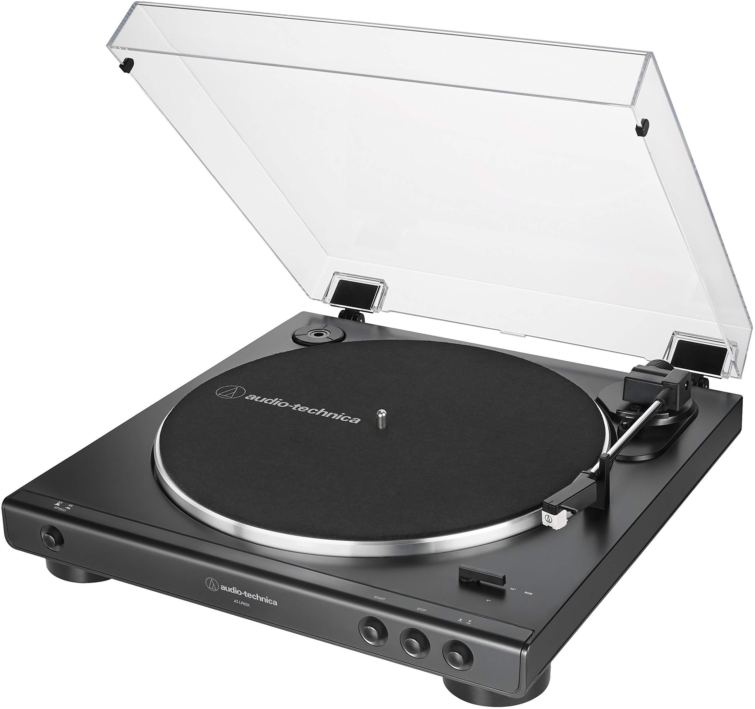 Audio Technica AT LP60X BK Belt Drive Hi Fidelity Anti Resonance