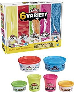 Play-Doh Compound Corner Variety 6 Pack - Slime, Cloud, Krackle, Stretch, Foam