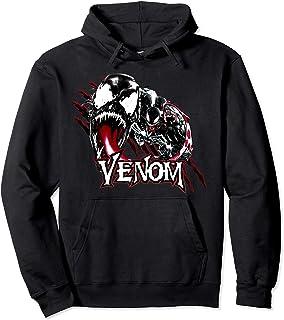 Marvel Venom Character Profile Scratch Badge Sweat à Capuche