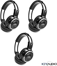 3 Pack of Two Channel Folding Adjustable Universal Rear Entertainment System Infrared Headphones with 3 48