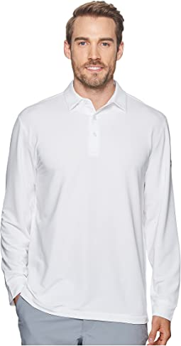 Extra Soft Long Sleeve French Terry Heathered Solid Polo
