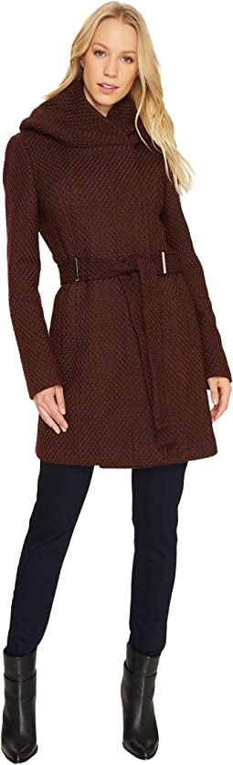 Calvin Klein - Wool Wrap with Oversized Hood and Belt
