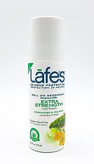 Lafe's Roll-On Deodorant, Extra Strength Coriander & Tea Tree, 2.5 Ounce (3 Count)