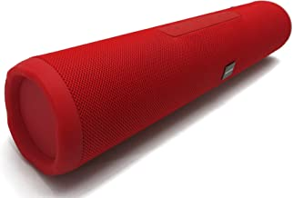 Sylvania 16-Inch Long Bluetooth Pill Style Speaker - Enjoy The Beats in Your Music! (Red)