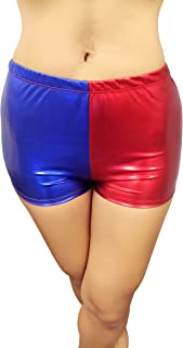 Misfit Booty Shorts Red/Blue Harley Quinn