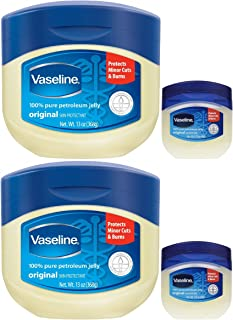 Vaseline 100% Pure Petroleum Jelly, 13 Ounce [With Bonus 1.75 Ounce] (Pack of 2)