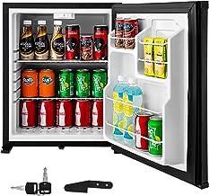 VBENLEM 1.8cu.ft 110V Portable Refrigerator AC No Noise Compact Absorption Fridge Black Mini Silent Cooler with Lock Reversible Door for Bedroom Apartment Hotel Hospital Dorm Office