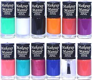 Makeup Mania Nail Polish Set of 12 Pcs, Nail Paint of 6ml each x 12 Pcs, MultiColor Combo Set No.93